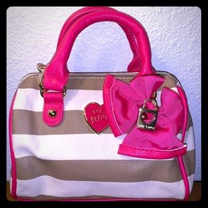 Betsey Johnson | XOXO Betsey Striped Hand Purse